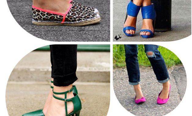 3d2be302d Ideias para combinar seus looks com sapatos coloridos e estampados ...